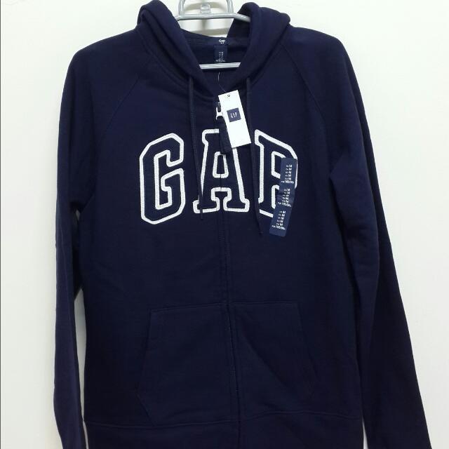 (全新)GAP logo 長袖外套 連帽外套 深藍 秋冬季 外套