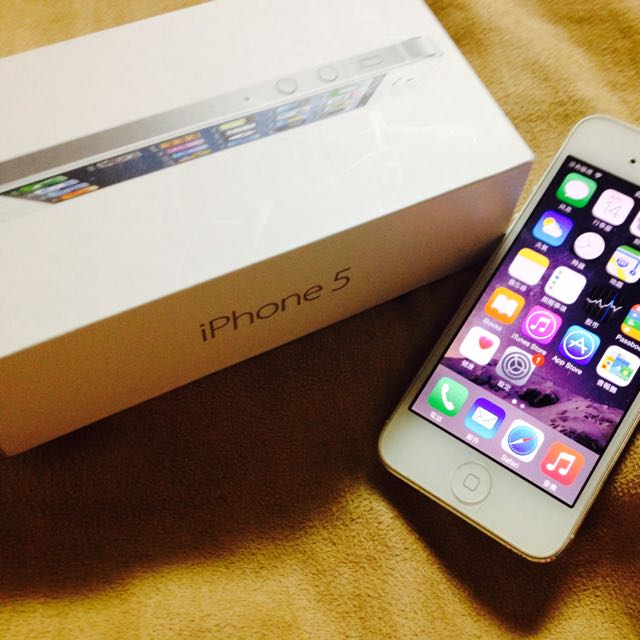 iPhone 5 16G 銀白色
