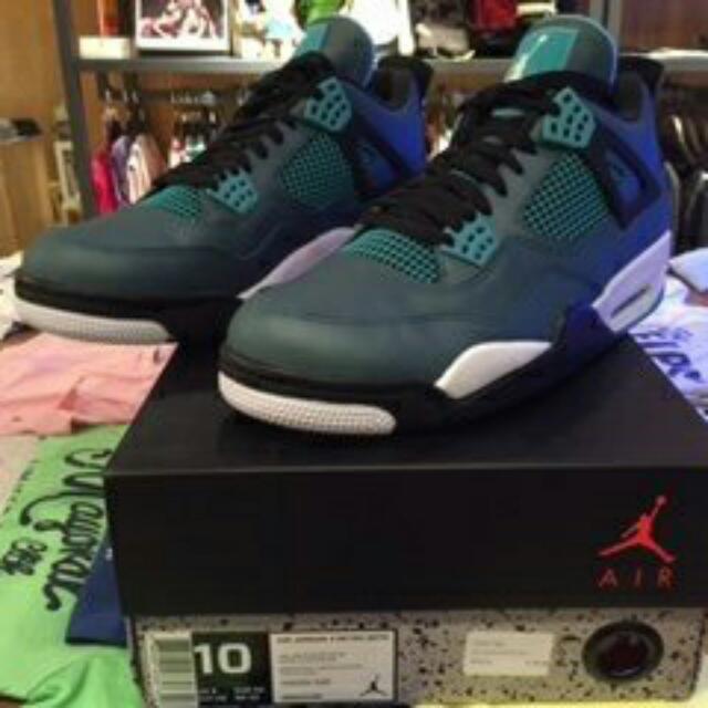 Nike air jordan 4 retro 30th 湖水綠 us 10