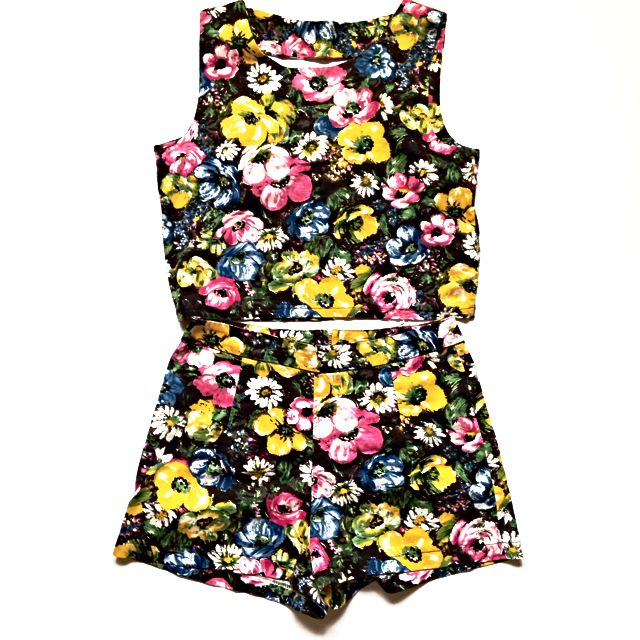 Two-piece Floral Playsuit