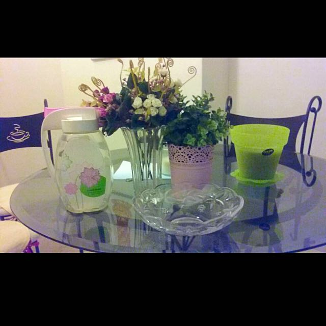 Vases, Glass Bowl And Water Jug