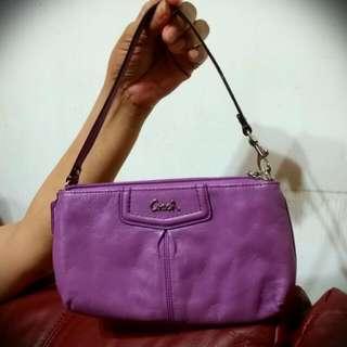 (二手)Coach 紫羅蘭色手提包/手拿包