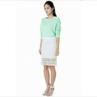 Klarra Frontrow Barry Crochet Skirt