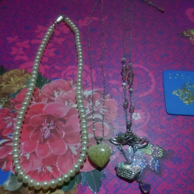 珍珠項鍊,兩條細項鍊