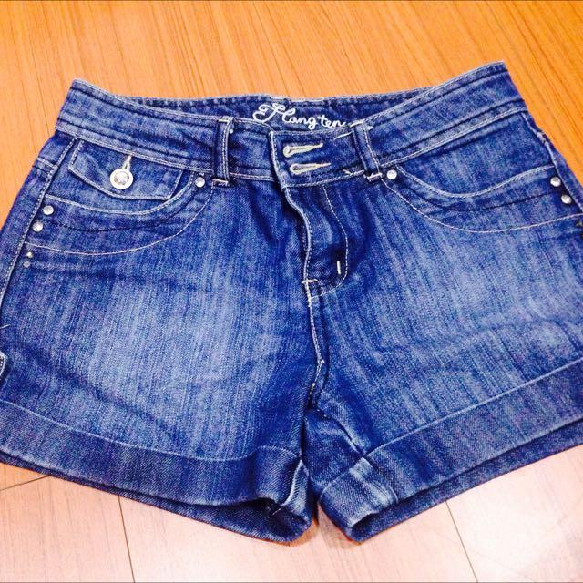 二手/深藍牛仔短褲