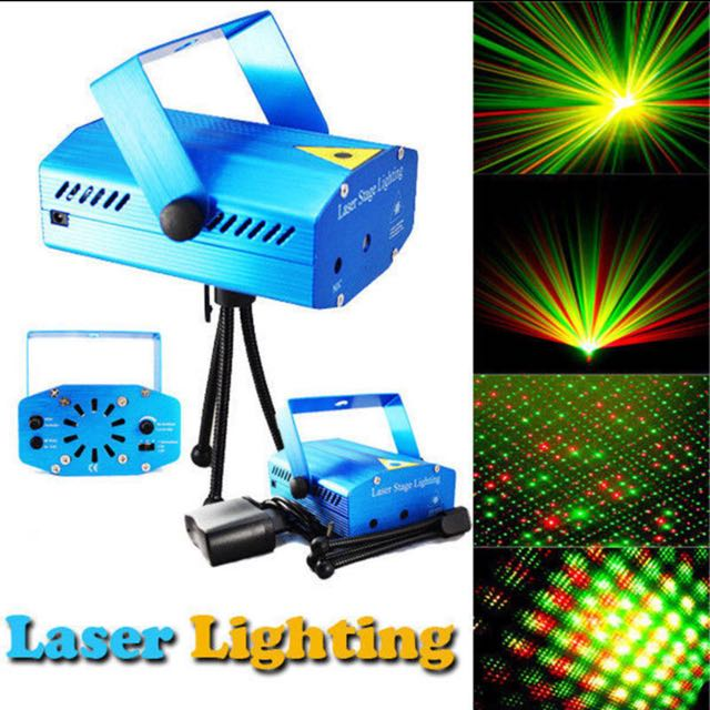 Mini LED Laser Pointer Disco Stage Light Party Pattern Lighting Projector