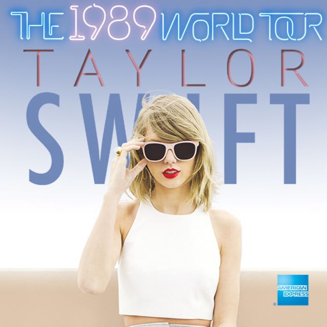 Taylor Swift 1989 World Tour SG concert CAT1 Ticket