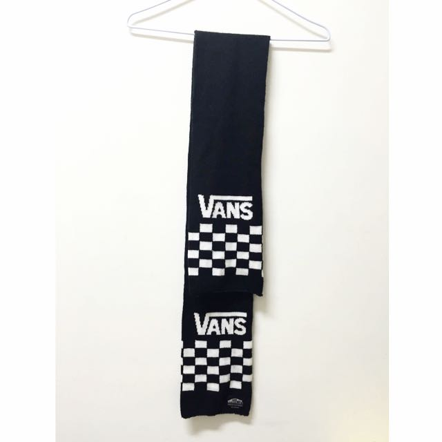 VANS 黑白格子圍巾