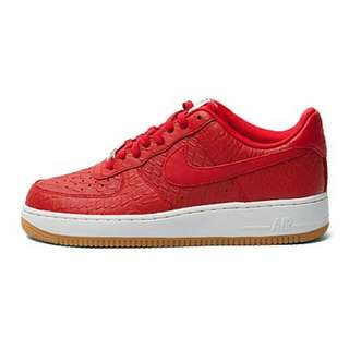 [PRICE REDUCED] Nike Air Force 1 Mid 'Croc and Gum' Red/White