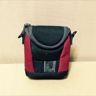 Delsey Camera Bag 相機包/腰掛包 零錢包 小包/黑紅