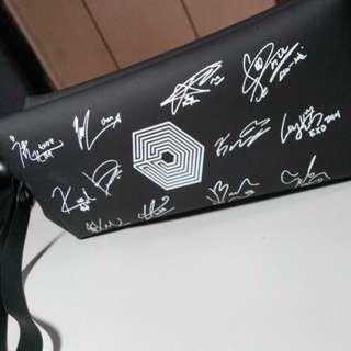 全新EXO周邊 簽名筆袋(化妝包)