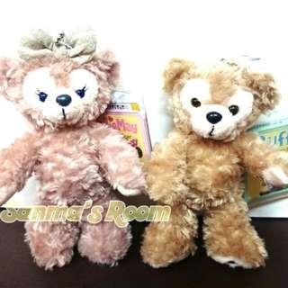 正版日本 東京海洋迪士尼購回 Duffy 達菲裸熊站姿吊飾娃娃