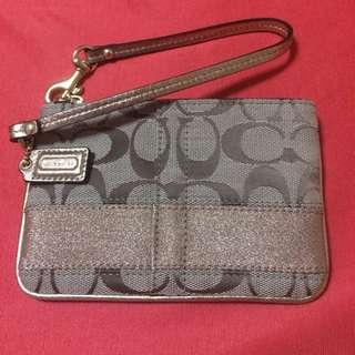 Brand New Authentic Coach Wristlets  In Gold