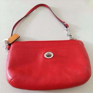 Red Authentic Coach Clutch Never Use