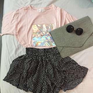 幾何圖形褲裙