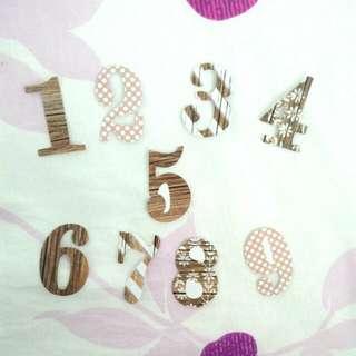 Number Embellishments