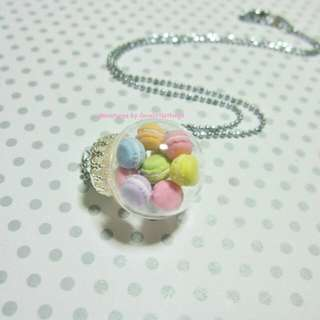 Macarons Glass Globe Necklace Small