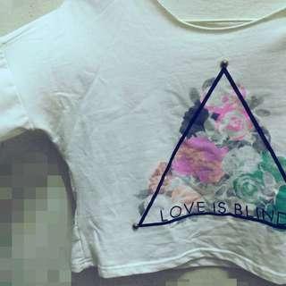 原宿💖日系💜三角形長袖短版上衣🔺
