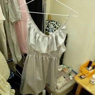 光感銀色洋裝 半價售出