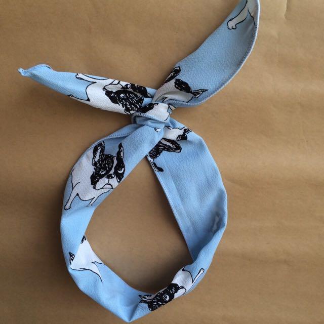 天藍色法鬥髮帶