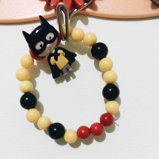 可愛串珠手環 - 蝙蝠俠