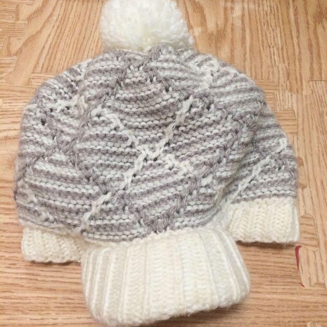 白針織毛帽