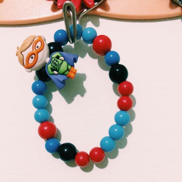 可愛串珠手環 - 超人