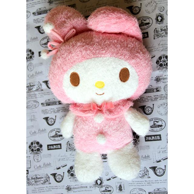 全新 日本 Sanrio 三麗鷗 美樂蒂 Melody 圓滾滾 毛球 扣子 娃娃 玩偶