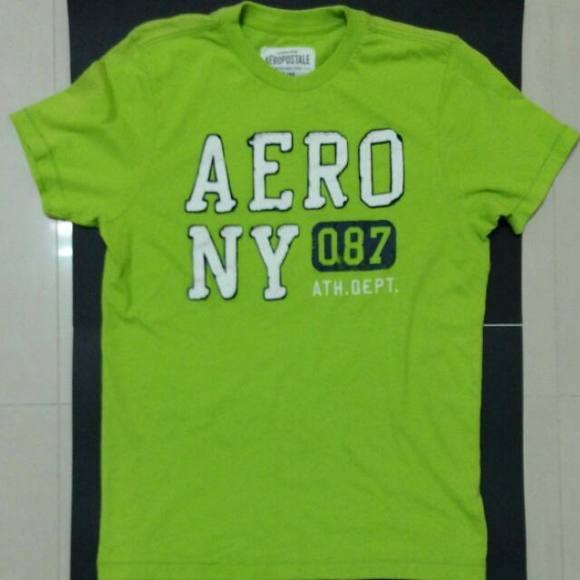 Aeropostale 淺綠色南版短T M號