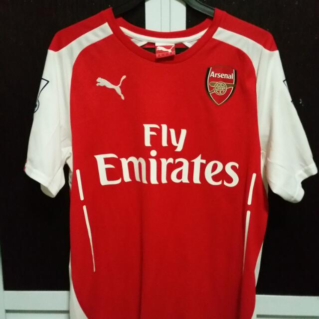 best website e2a3e dd54a Authentic Arsenal Home Kit 2014/15