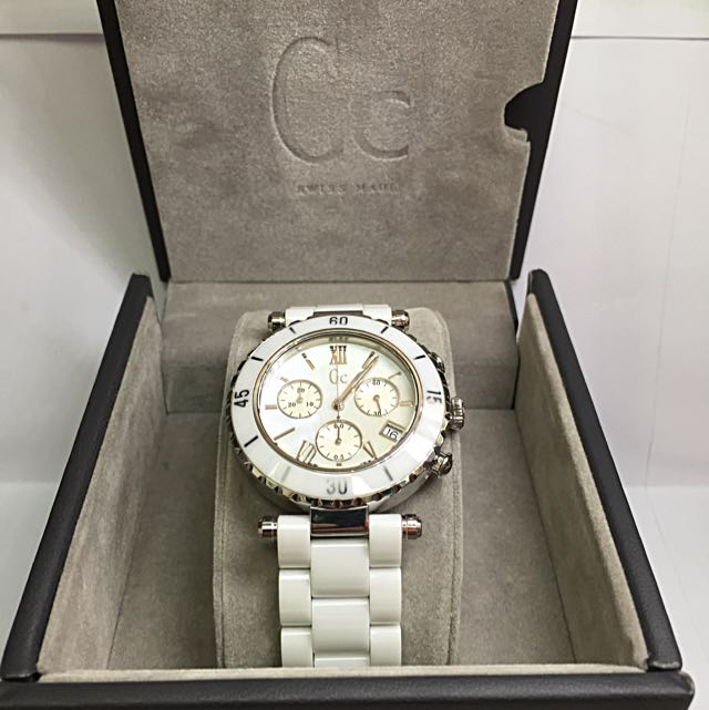 ff1469f73 GUESS COLLECTION Gc Ladies' Diver Chic Ceramic Chronograph Watch ...