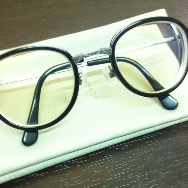 半價!Glasense復古銀框眼鏡(年初購入保養良好)附袋