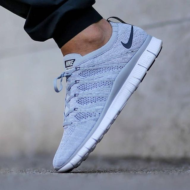 8a6eee9fab964 Nike Free Flyknit NSW Wolf Grey White