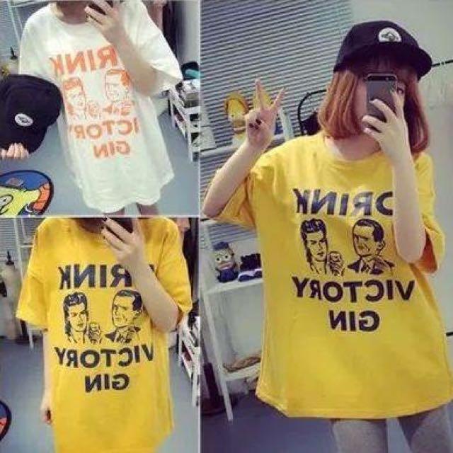 韓妞寬鬆T恤