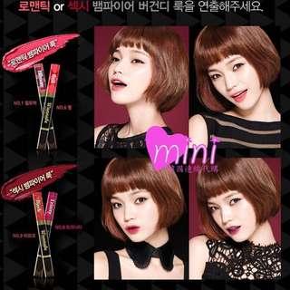韓國 Aritaum 愛茉莉集團 雙頭保濕海綿咬唇筆 色號1(廣告色)