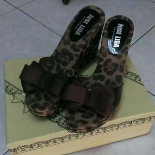 豹紋 拖鞋 厚底