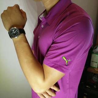 Deep Purple Puma Polo Tee