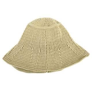 米色 漁夫帽 韓 編織