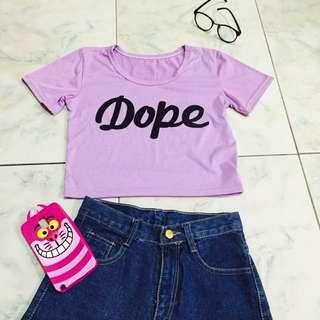 Dope紫色短版上衣👍🏻