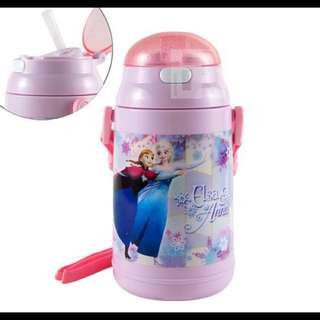 日本購入 冰雪奇緣 彈跳吸管水壺