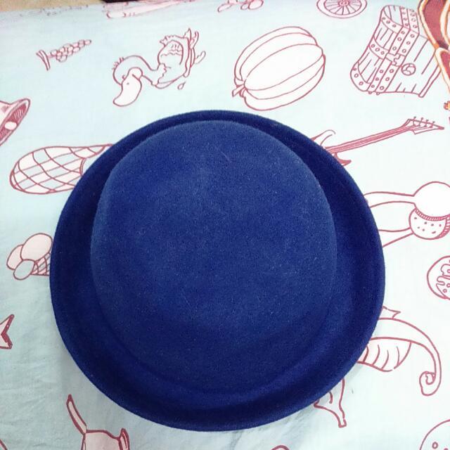 圓帽-寶藍色