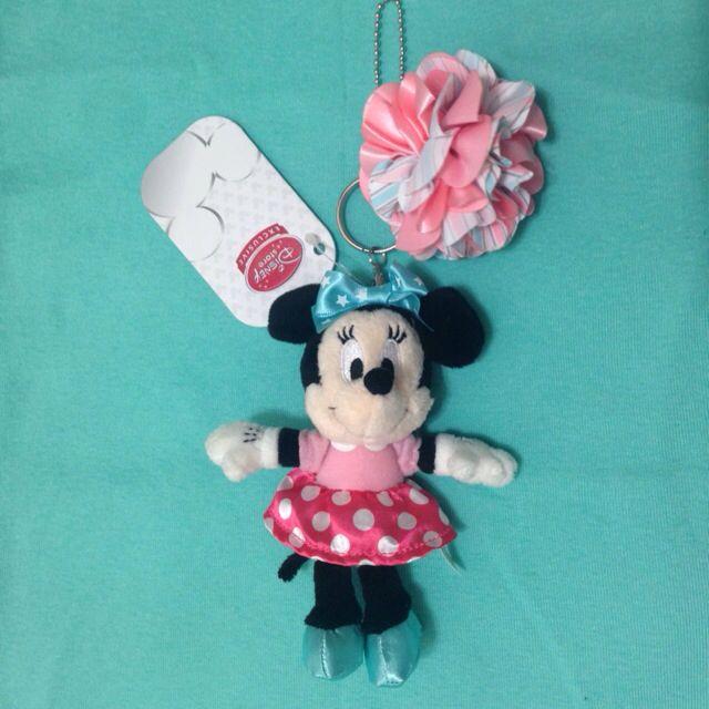 迪士尼 米妮 娃娃 吊飾