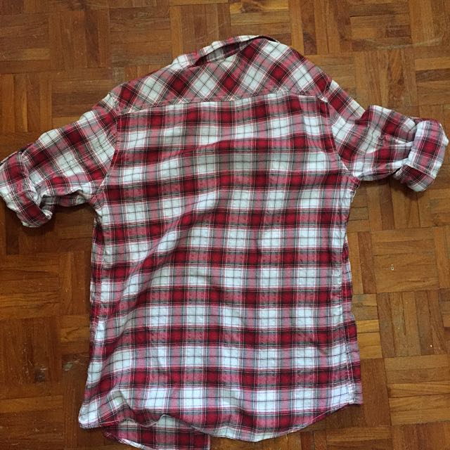 Brand New Esprit Red Checkered Long Sleeved