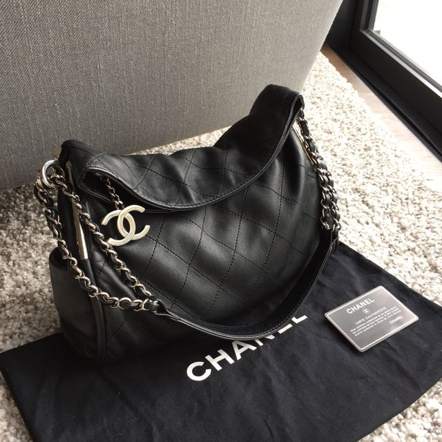 31bd680d1d8424 Chanel Black Quilted Lambskin Leather Soft Touch Flap Bag By. Chanel  Ultimate Soft Quilted Lambskin Hobo Luxury On Carou