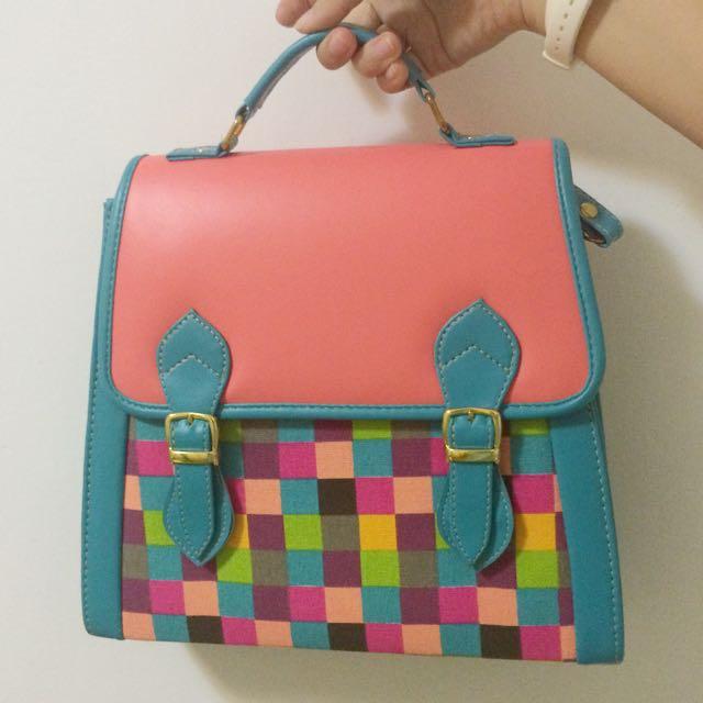 Disco彩色馬賽克包包