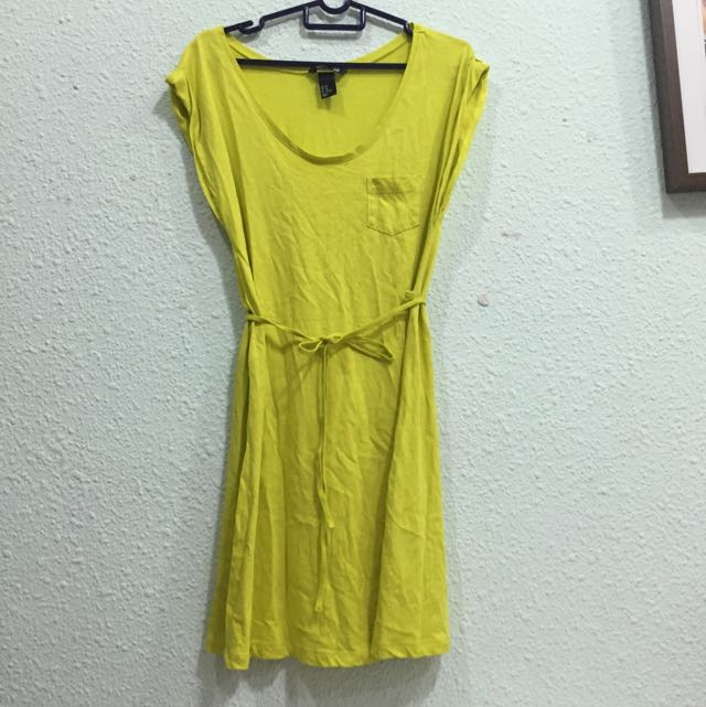 cf57a64e5a5 H M Citrus Yellow T Shirt Dress