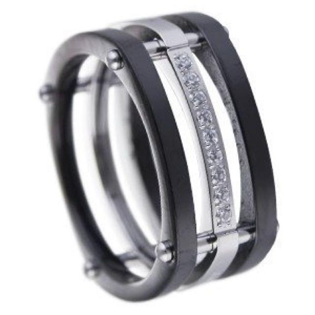 破銅爛鐵PTLT戒指(黑)316L鋼戒