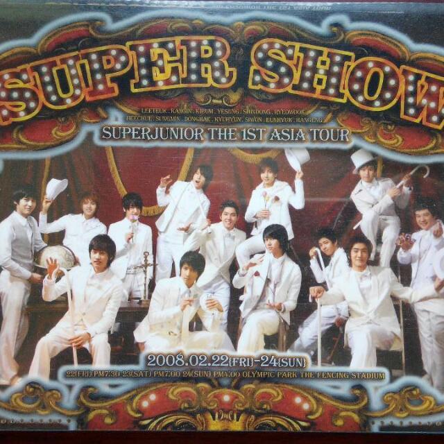《二手》Super Junior The 1st ASIA TOUR - Super Show 首次亞洲巡迴演唱會