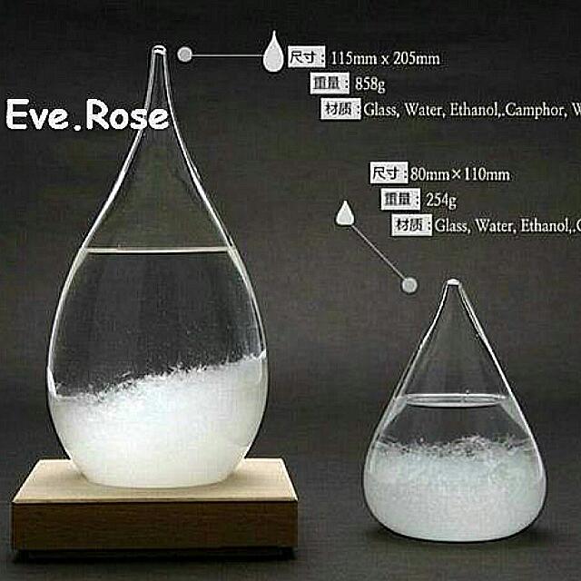 Eve.(現貨含運)日本Tempo Drop天氣瓶附底座 大小皆有 預報瓶 優惠禮品 聖誕節交換禮物