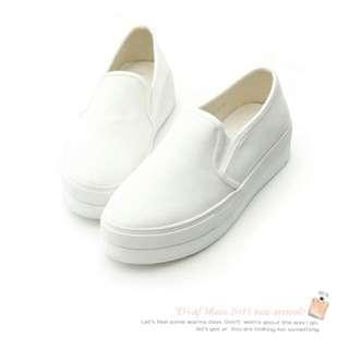 D+AF 白色厚底鞋